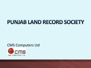 PUNJAB LAND RECORD SOCIETY