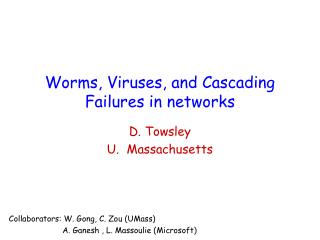 Worms, Viruses, and Cascading Failures in networks