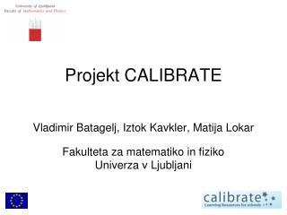Projekt CALIBRATE