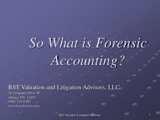 So What is Forensic Accounting?
