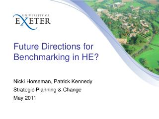 Future Directions for Benchmarking in HE