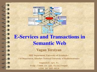 E-Services  and Transactions  in Semantic Web