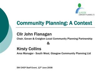 Community Planning: A Context