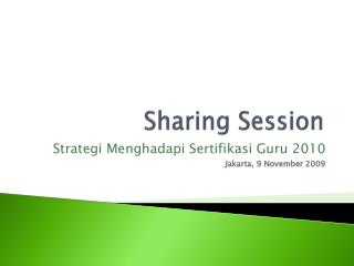 Sharing Session