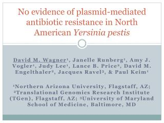 No evidence of plasmid-mediated antibiotic resistance in North American  Yersinia pestis