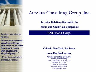 Aurelius Consulting Group, Inc.