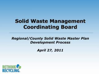 Metropolitan Solid Waste Management Policy Plan