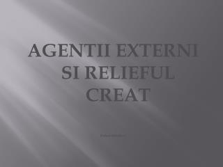 AGENTII EXTERNI SI RELIEFUL CREAT Preluat  didactic.ro