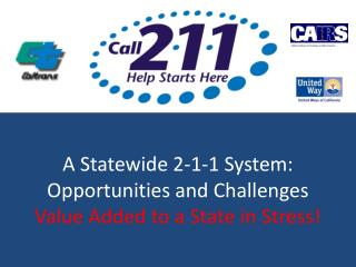 A Statewide 2-1-1 System:  Opportunities and Challenges Value Added to a State in Stress!