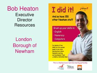 Bob Heaton Executive Director Resources   London Borough of Newham
