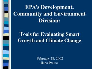 How do current development patterns impact Environmental Quality?