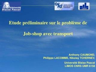 Anthony CAUMOND,  Philippe LACOMME, Nikolay TCHERNEV, Université Blaise Pascal LIMOS CNRS UMR 6158