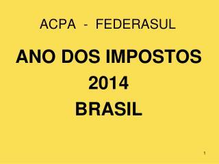 ACPA  -  FEDERASUL