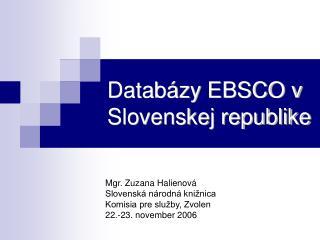 Databázy EBSCO v Slovenskej republike