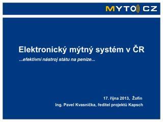Elektronický mýtný systém v ČR