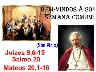 BEM-VINDOS À 20ª SEMANA COMUM!                              (São Pio x)
