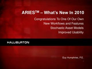 ARIES TM  – What's New In 2010