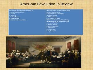 American Revolution-In Review