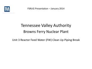FSRUG Presentation – January 2014