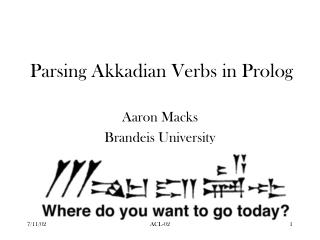 Parsing Akkadian Verbs in Prolog
