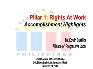 Pillar 1: Rights At Work Accomplishment Highlights