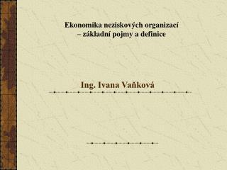 Ing. Ivana Vaňková