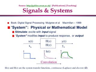 Source:  galilee.swan.ac.uk/   [Publications] [Teaching] Signals & Systems