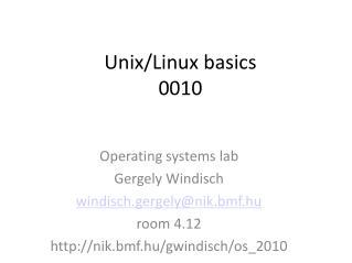 Unix/Linux basics 0010