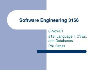 Software Engineering 3156