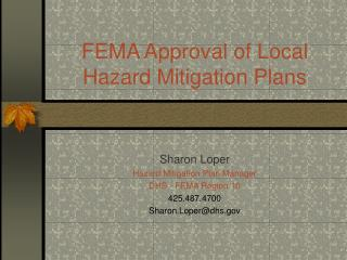 FEMA Approval of Local Hazard Mitigation Plans