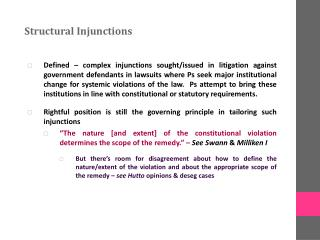 Structural Injunctions