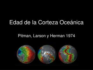 Edad de la Corteza Oceánica