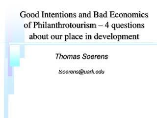 Thomas Soerens tsoerens@uark