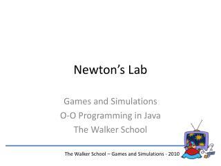 Newton s Lab