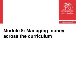 Module 8: Managing money across the curriculum