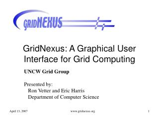 GridNexus: A Graphical User Interface for Grid Computing