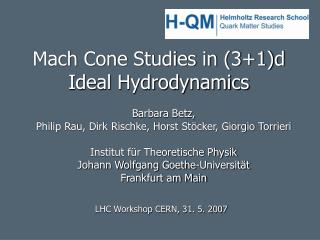 Mach Cone Studies in (3+1)d  Ideal Hydrodynamics