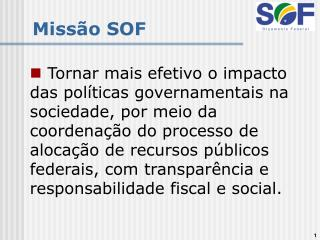 Missão SOF