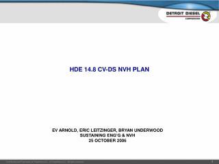 HDE 14.8 CV-DS NVH PLAN