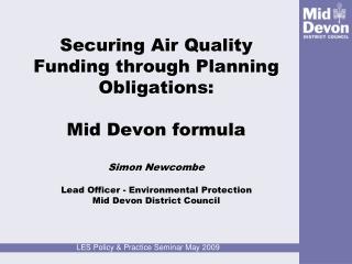 Mid Devon Air Quality – A Problem?
