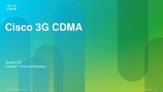 Cisco 3G CDMA