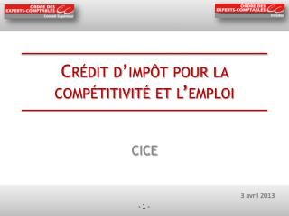 Crédit d'impôt pour la compétitivité et l'emploi