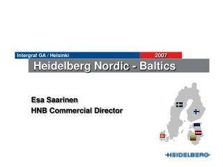 Esa Saarinen HNB Commercial Director