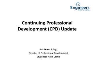 Continuing Professional Development (CPD) Update
