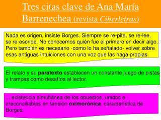 Tres  citas  clave  de Ana Mar ía Barrenechea  (revista  Ciberletras )