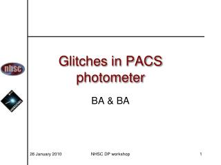 Glitches in PACS  photometer