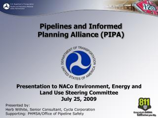 Presentation to NACo Environment, Energy and Land Use Steering Committee July 25, 2009
