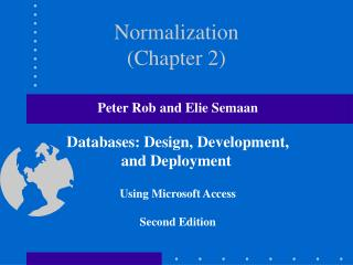 Normalization (Chapter 2)