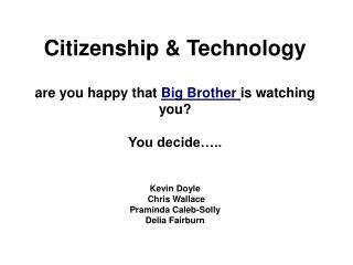 Definitions of  Citizenship :