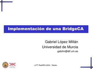 Implementación de una BridgeCA